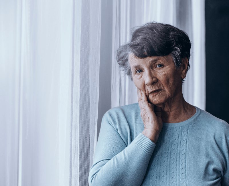 Elderly Looking Woman